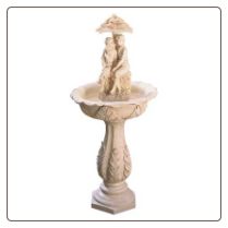 Alabaster Couple Garden Fountain