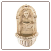 Lion Head Wall Water Fountain