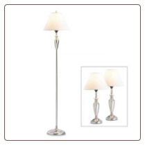 Mixed Material Lamp Trio