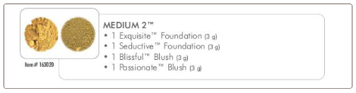 Medium 2 Mineral Makeup Foundation Collection