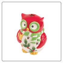 Holiday Hoot Candleholder