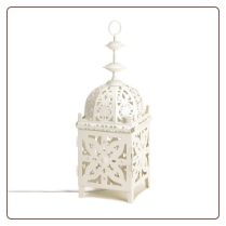 White Medallion Table Lamp