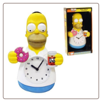 Simpsons Homer Simpson Animated Clock