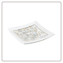 Mother Of Pearl Mosaic Dish