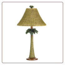 Palm Tree/Rattan Lamp