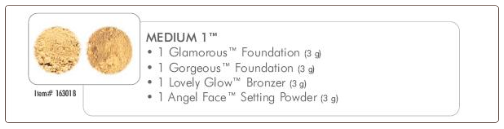 Medium 1 Mineral Makeup Foundation Collection